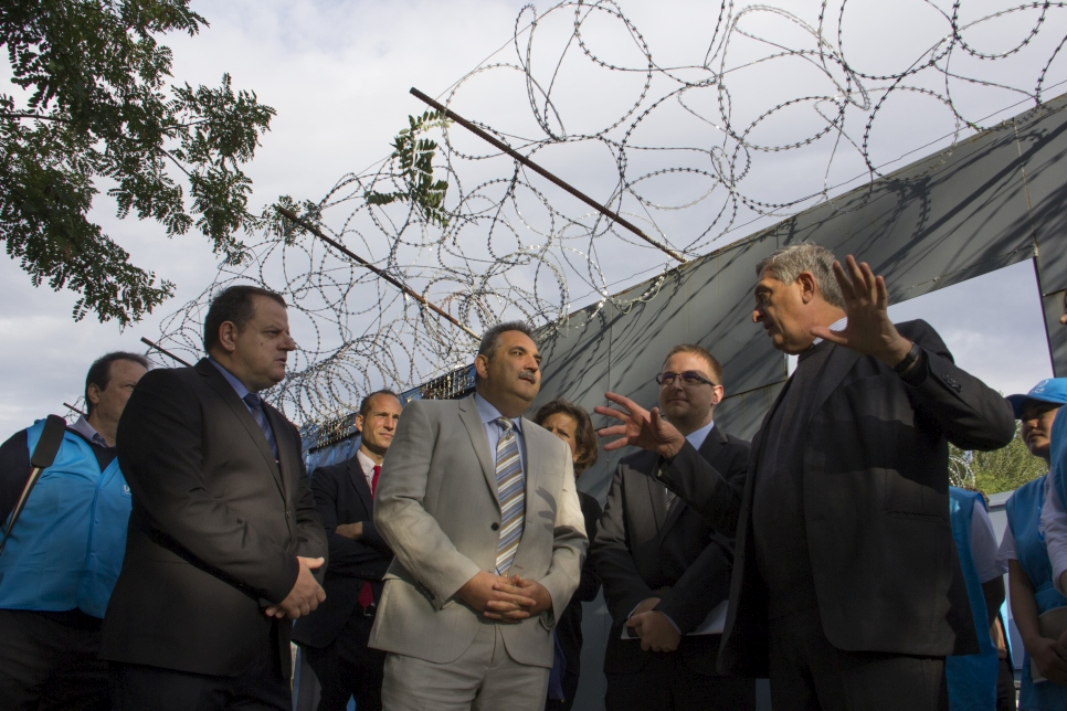 Hungary. High Commissioner Filippo Grandi at Röszke Transit Zone