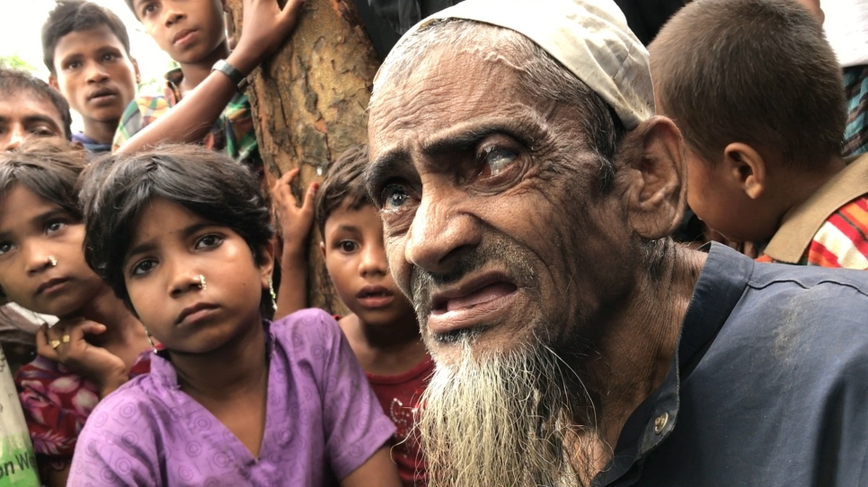Elderly Rohingya