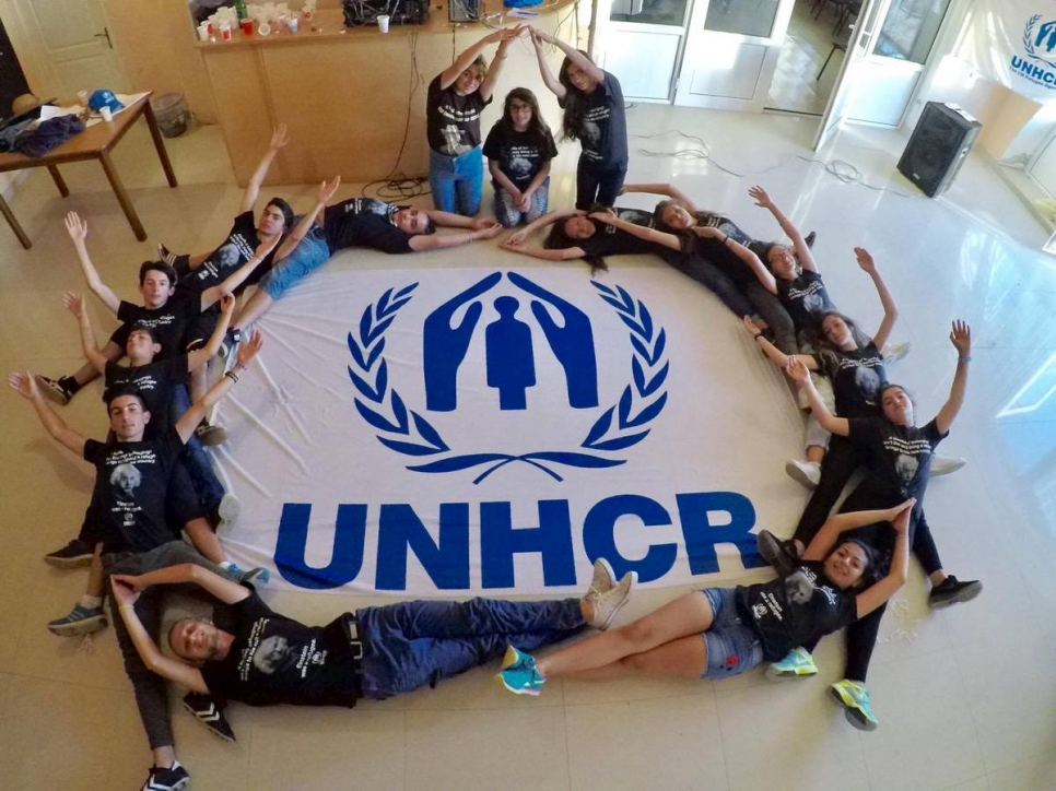 Armenia. YMCA Vardenis campers benefits from a summer camp organised by UNHCR