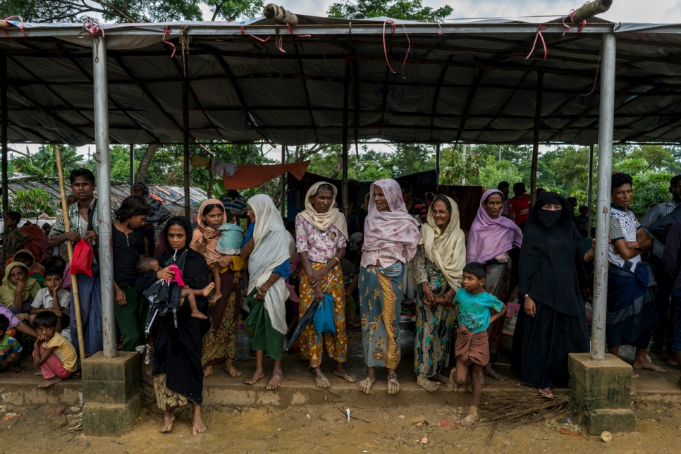 Bangladesh. Relief and shelter for desperate Rohingya