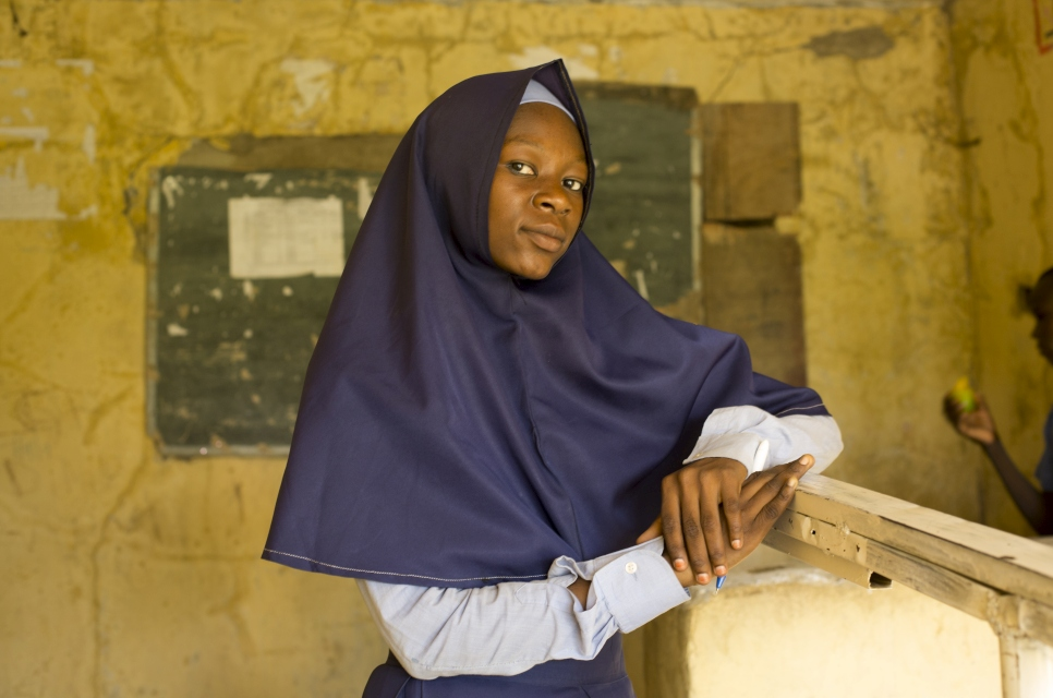 Fannah Mohammed Ali, 16, at Treasures Richfield College. Maiduguri, Borno State, Nigeria.