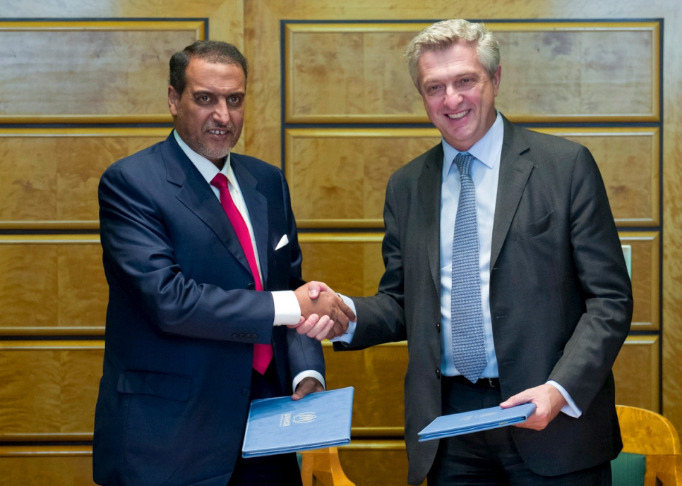 Switzerland. UNHCR and Qatar Charity formalize cooperation agreement to support of global refugee programmes