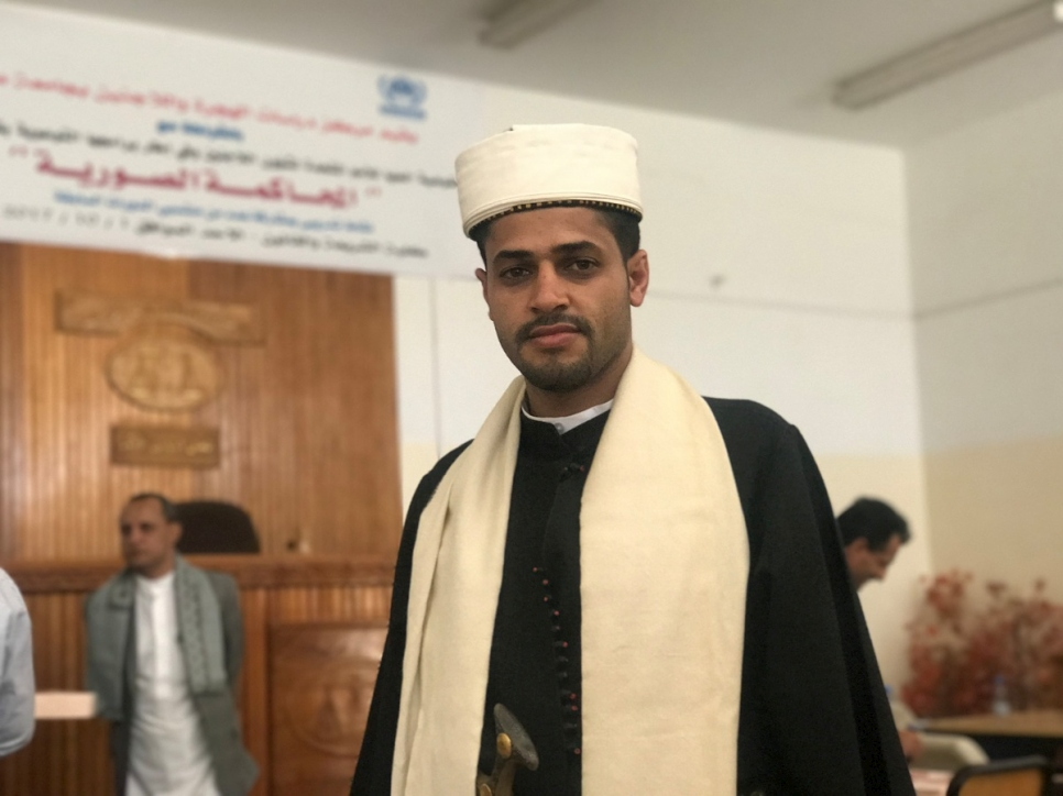 Yemen. In a war zone, students learn refugee law