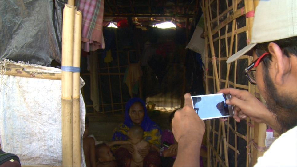 Using innovative technology, UNHCR is counting Rohingya ffamilies to target aid.
