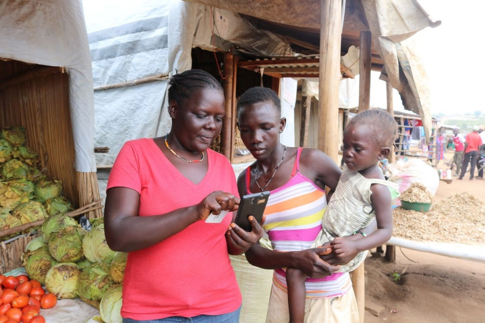 Uganda. CRRF mobile phone connectivity in Bidibidi settlement