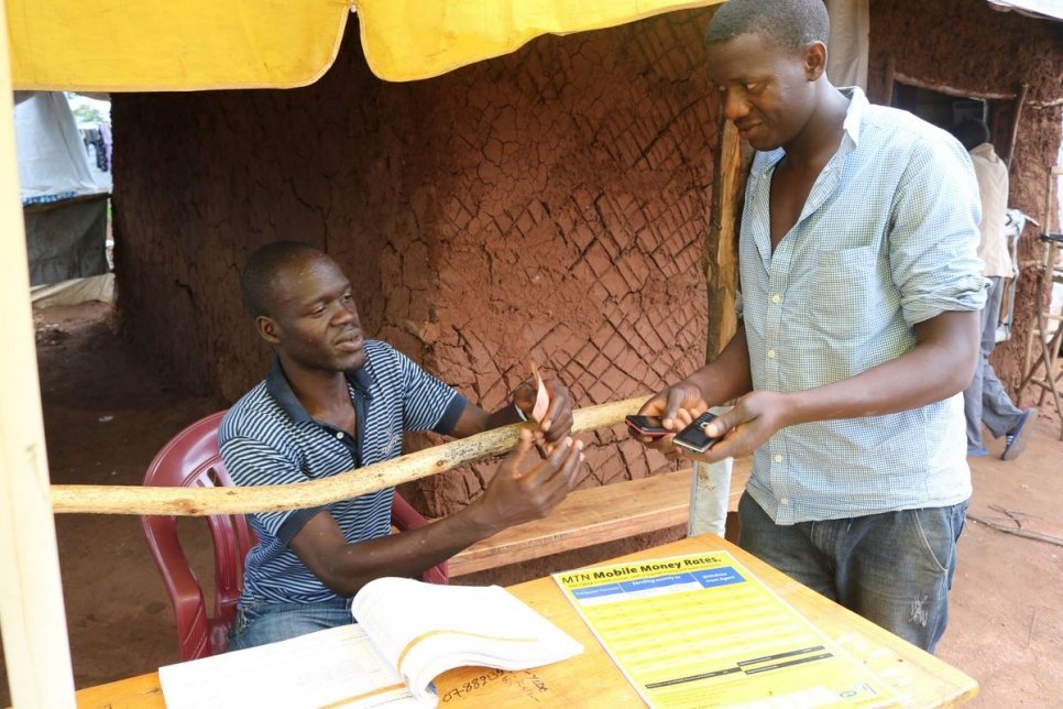 Uganda. CRRF mobile phone connectivity in the Imvepi settlement