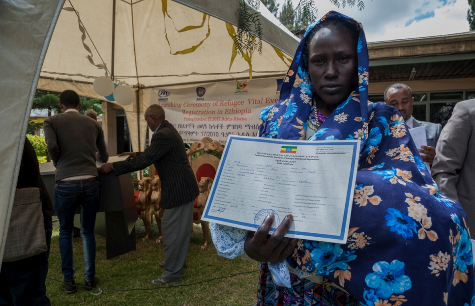 Ethiopia. Ariat Ochocka received her child's birth certificate