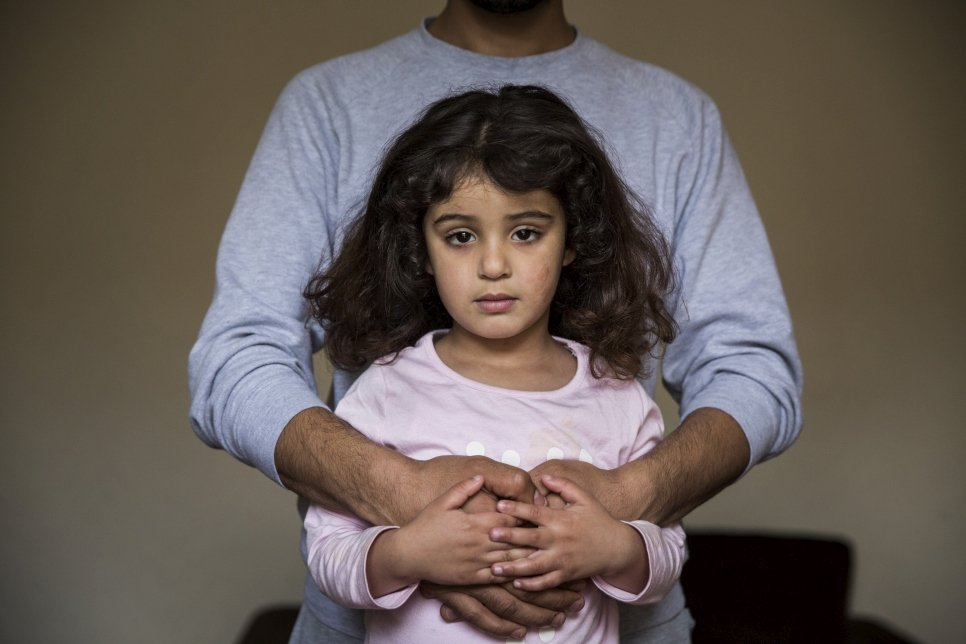 Jinan, her parents and two siblings, fled their home in Syria and lived as refugees in Lebanon, before being granted resettlement in the UK.