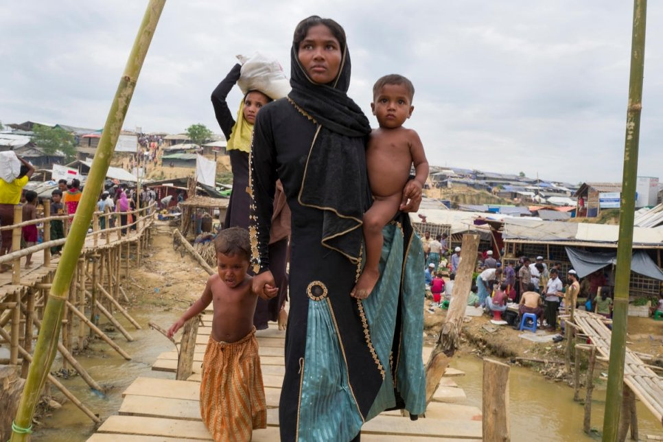Bangladesh. General views of Kutupalong refugee camp and surrounding areas