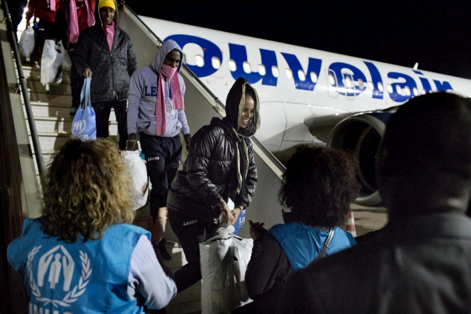 Niger. Refugees evacuated from Libya to Niger