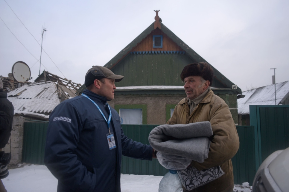 Ukraine. Helping the vulnerable in a town under fire