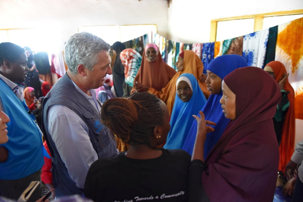 Kenya. UN Refugee Chief in Dadaab Camps, reassures refugees, returnees and host community of UNHCR's support