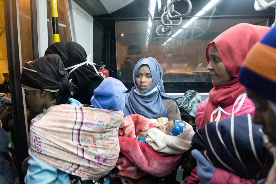 Italy. Vulnerable refugees evacuated straight from Libya to Italy. 22 December 2017