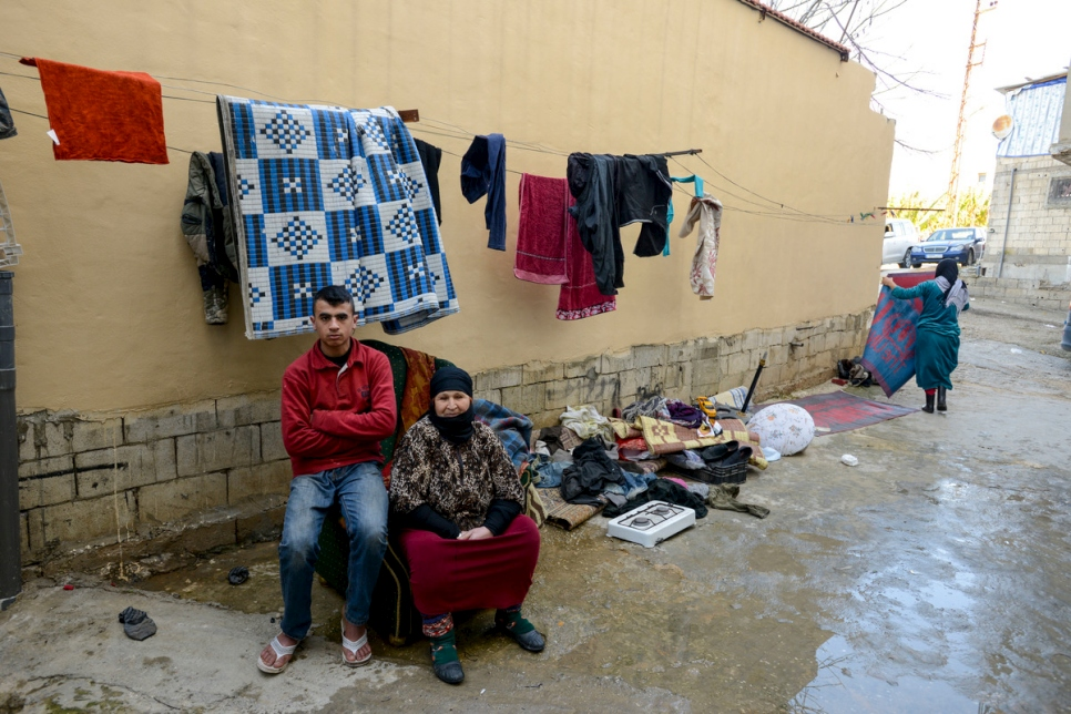 Lebanon. Syrian refugees living in very difficult conditions