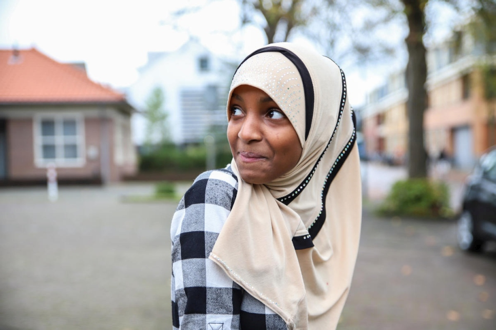 The Netherlands. Manaal from Somalia dreams of being an air stewardess to travel (The Dream Diaries)