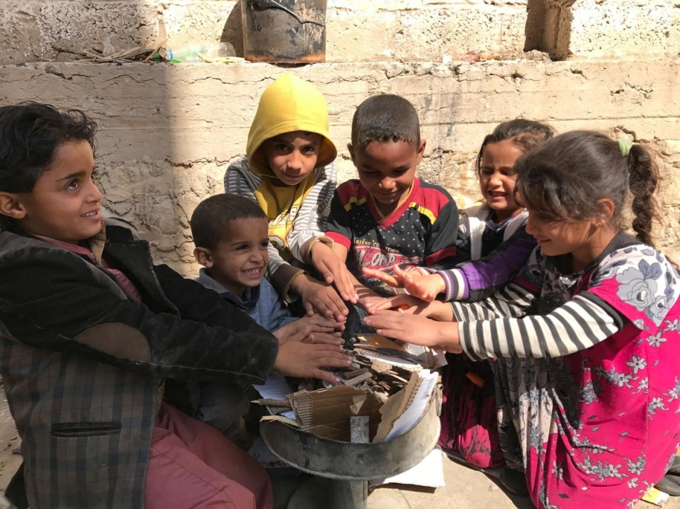 Yemen. UNHCR winter assistance for displaced Yemenis