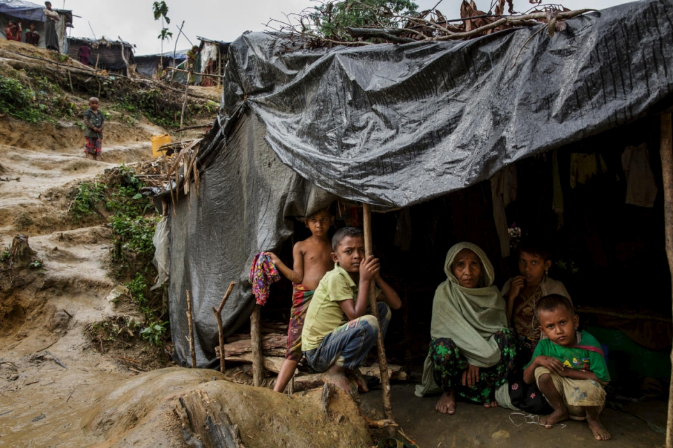 Bangladesh. After traumatic flight Rohingya refugees adjust to life in camps