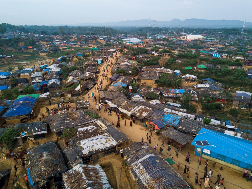 Bangladesh. An aerial view over Kutupalong