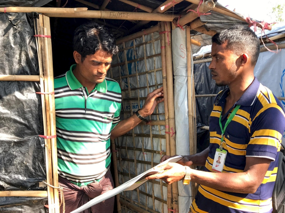 Bangladesh. Rohingya community health workers helping to control diphtheria outbreak
