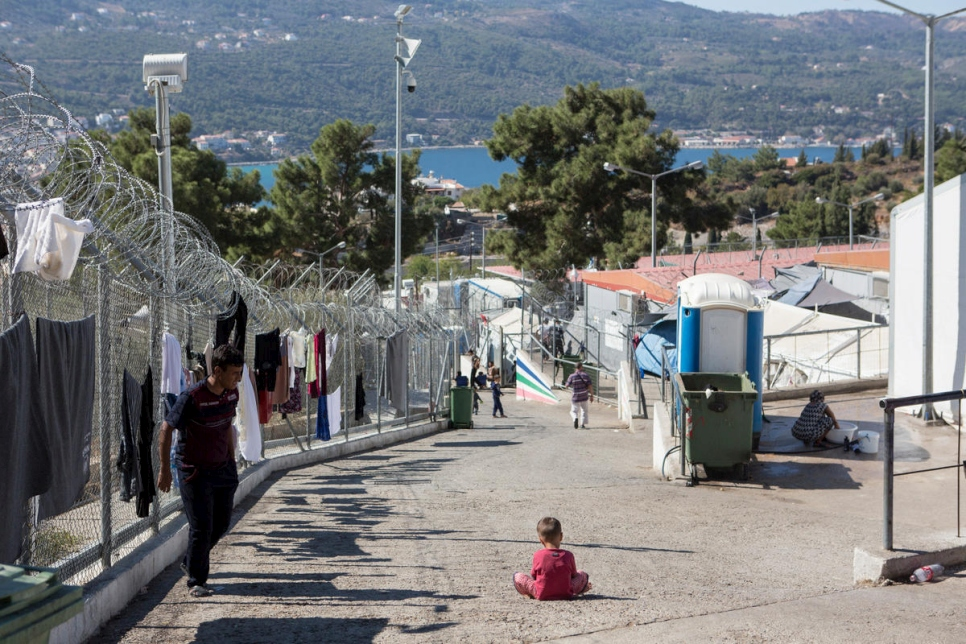 Greece. Refugee families struggling on island of Samos