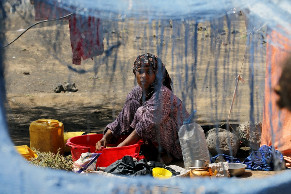 Yemen. Internally Displaced people in a camp in Amran