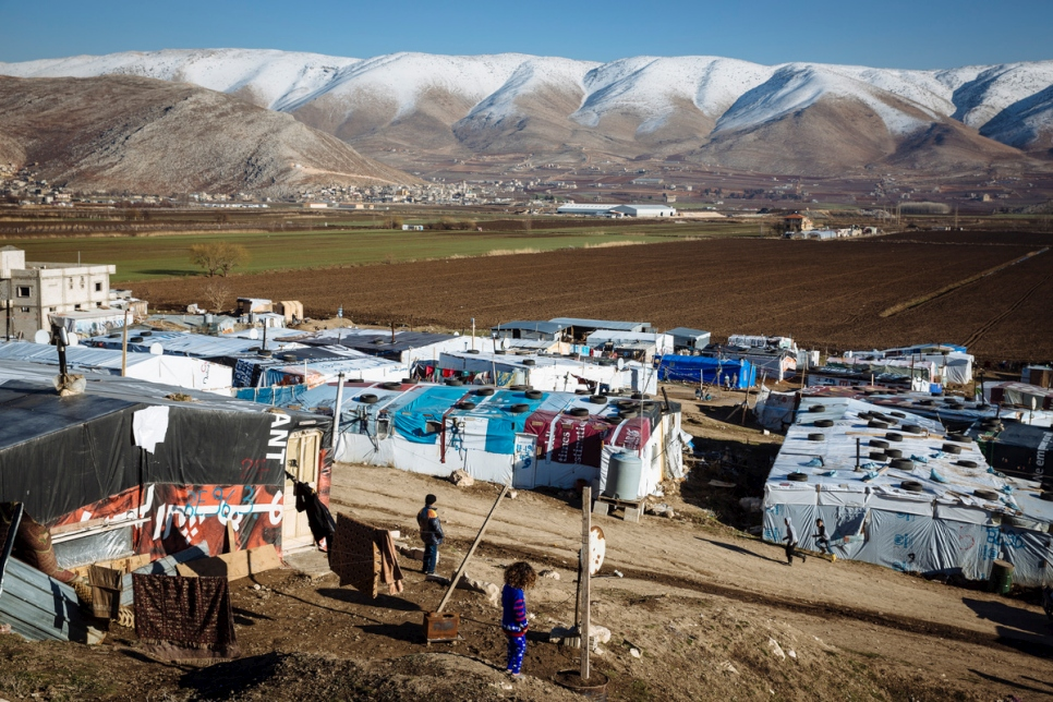 Lebanon. Syrian refugees in the Bekaa Valley