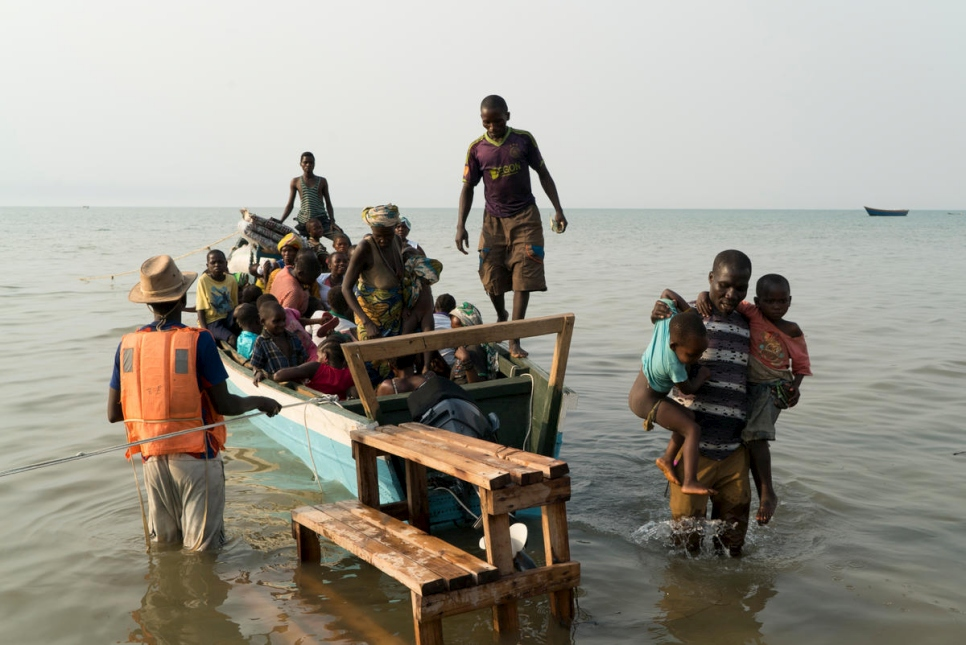 Refugees are using small canoes or overcrowded and rickety fishing boats.