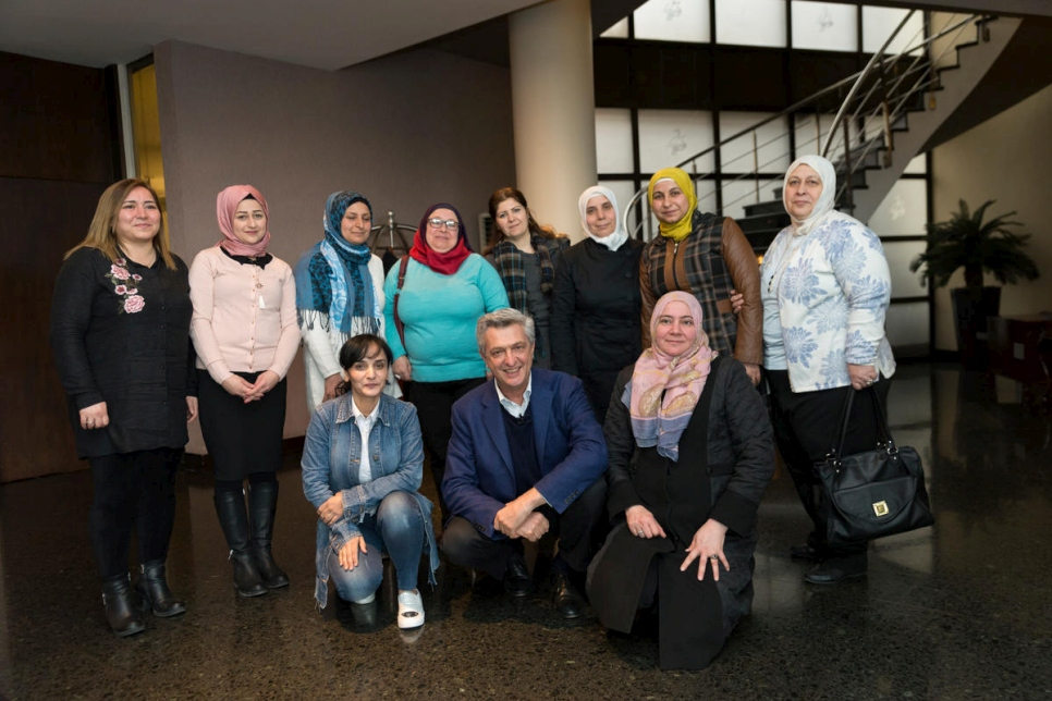 Turkey. UN High Commissioner for Refugees meets refugee women in Istanbul