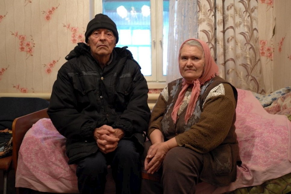 Ukraine. The old man and the missile