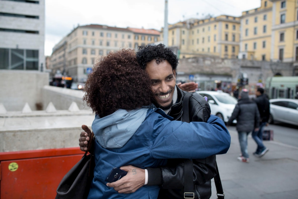 Rome, Italy - A refugee from Israel to Italy.
