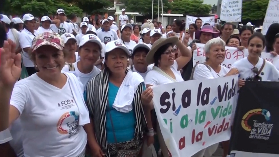 Displaced women in Colombia unite against sex abuse
