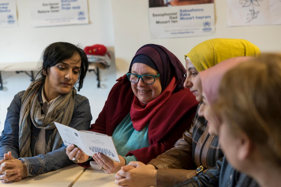 Turkey. Syrian refugees join women's solidarity group in Istanbul