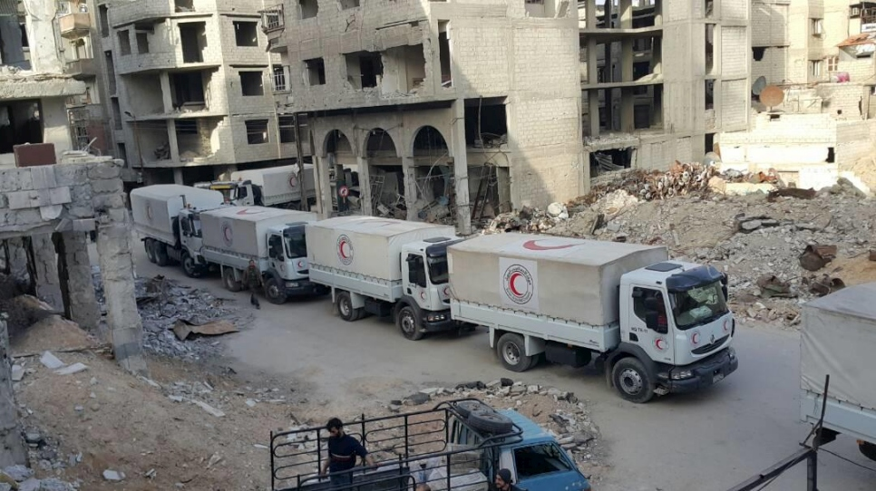 Syria. March 5th aid convoy to Eastern Ghouta