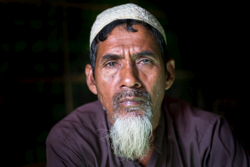 Bangladesh. Four generations of Rohingya family living as refugees