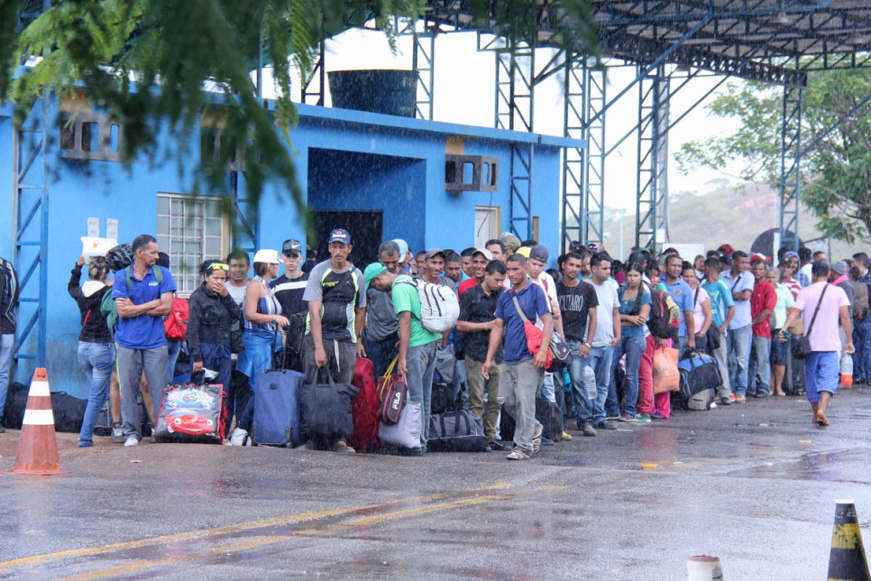 Brazil. Venezuelans waiting for registration in Pacaraima, Roraima
