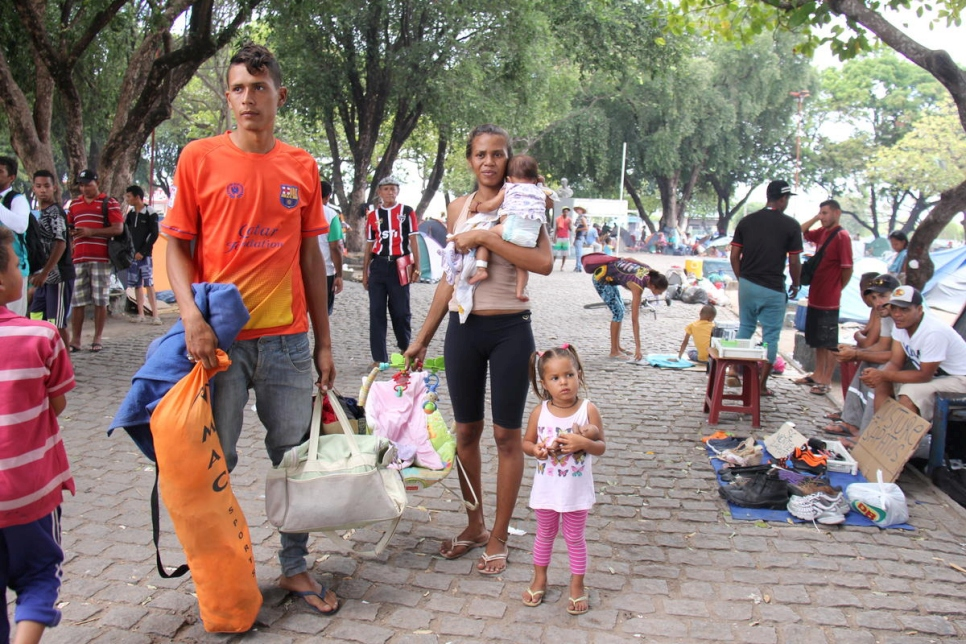Brazil. Venezuelans relocated to shelter in Boa Vista