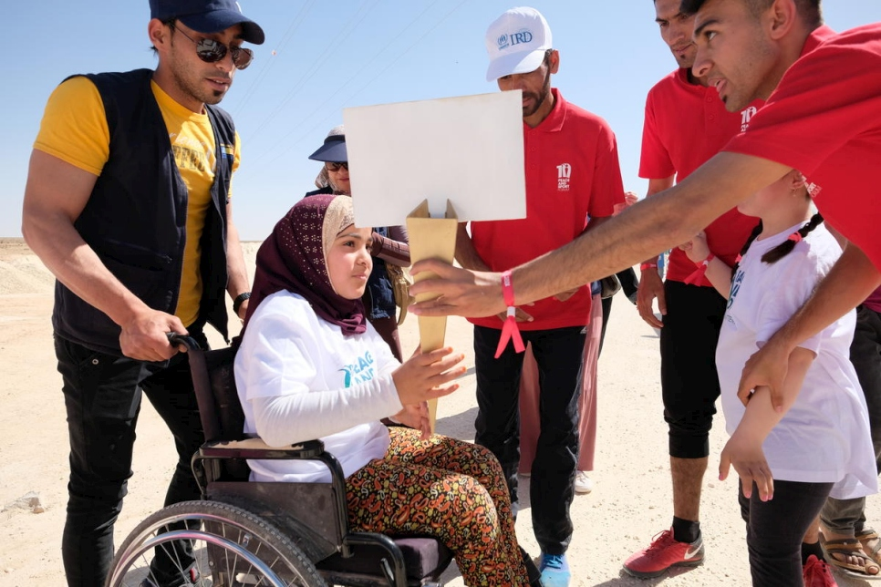 Jordan. The UNHCR \X20WithRefugees solidarity world tour commences with a sports day at Jordan's Za'atari refugee camp