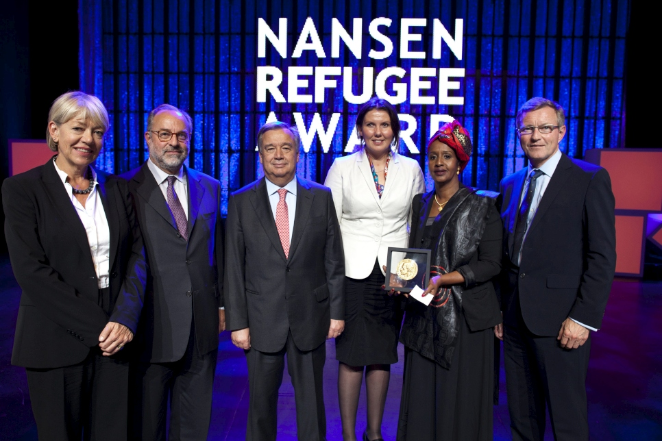 2012 Nansen Refugee Award ceremony in Geneva Switzerland In Geneva this evening, Shukri Aden Mohamed accepted UNHCR's 2012 Nansen Refugee Award on behalf of her sister, Hawa Aden Mohamed who was unable to attend due to health reasons.