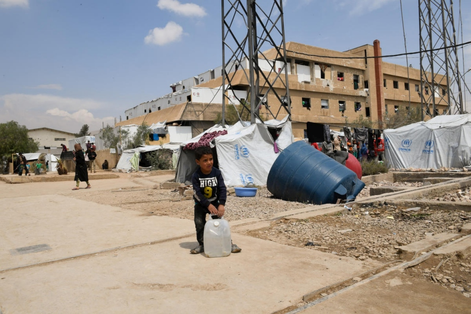 Syria. Displaced residents living in desperate shelter conditions