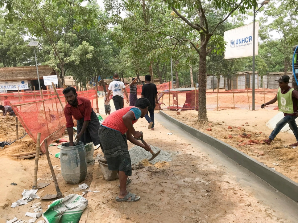 Bangladesh. UNHCR  transit centre prepares for monsoon season