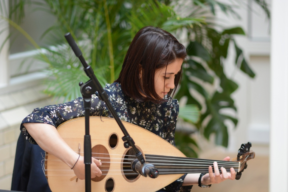 Guests enjoyed beautiful music from Rihab Azar, Syrian Virtuosa Oud player