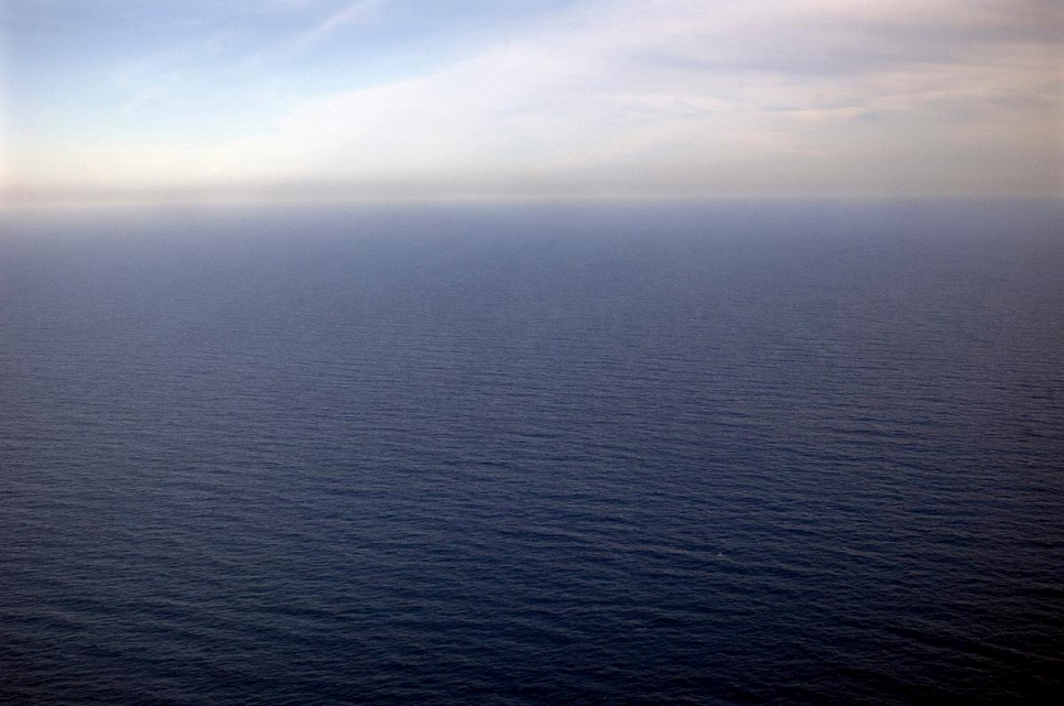 aerial shot of the Mediterranean Sea