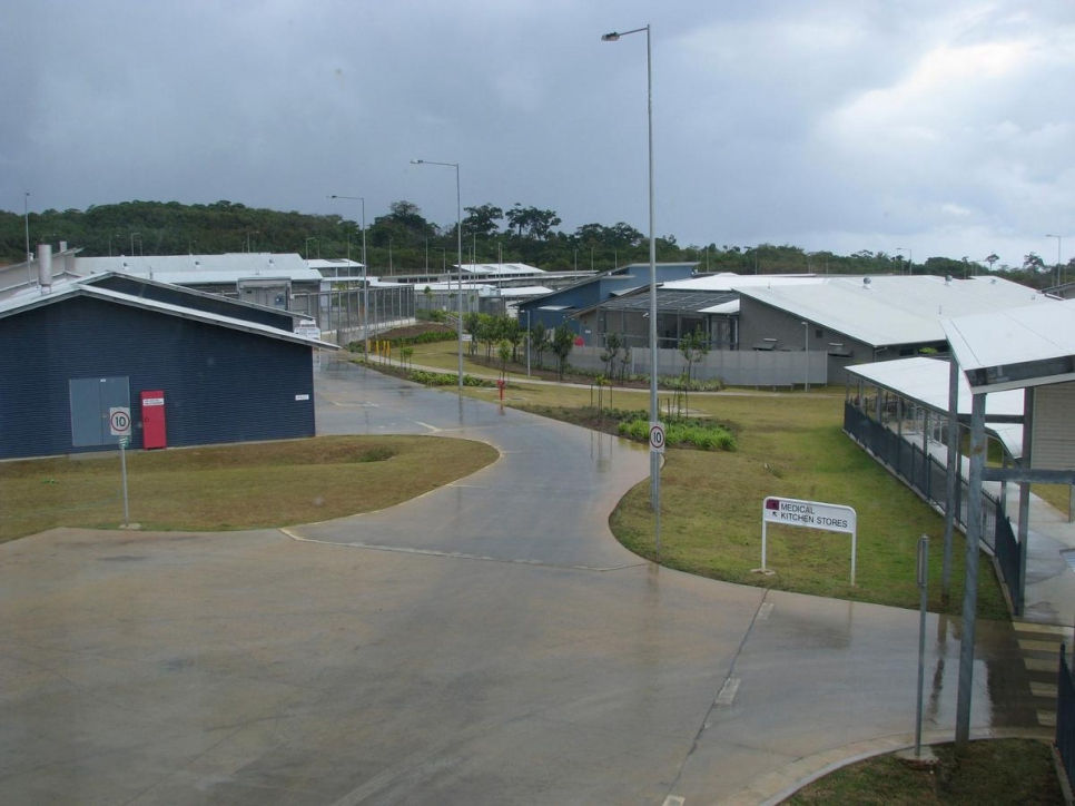 Le centre de détention pour l'immigration à Christmas Island en 2008.