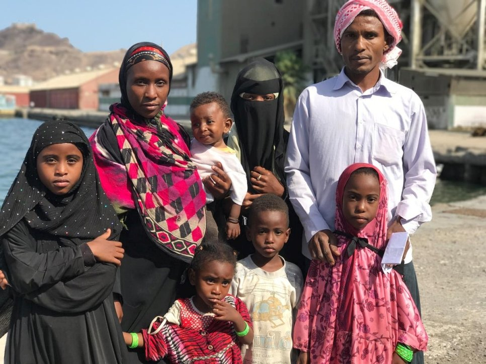 Yemen. Somali refugees return home