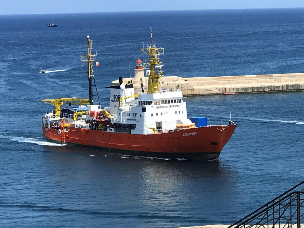 Malta. Aquarius sea-rescue