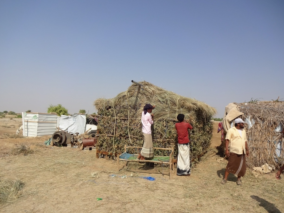 unhcr for displaced yemenis eco huts provide shelter from the