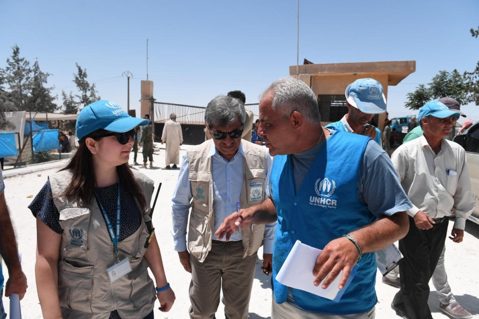 UNHCR's Representative, Sajjad Malik was humbled and proud to witness his team going about their work in Ein Issa camp, registering new arrivals, helping displaced people to sort out civil documents, distribute relief items and working with the camp management to improve conditions.