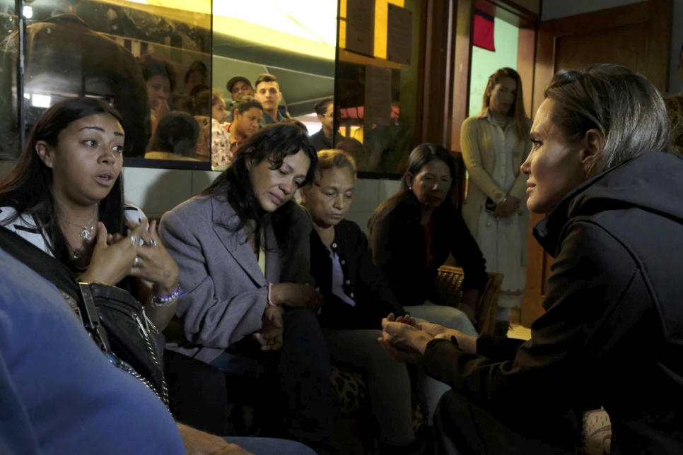 Peru. Visit of UNHCR Special Envoy Angelina Jolie to Lima.