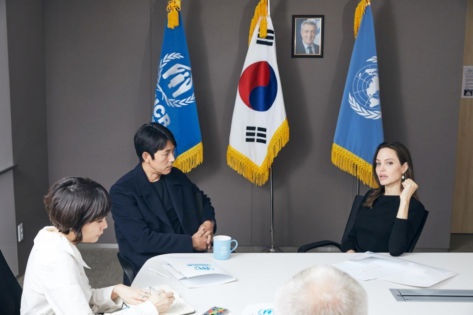 South Korea. UNHCR Special Envoy, Angelina Jolie, visits Seoul