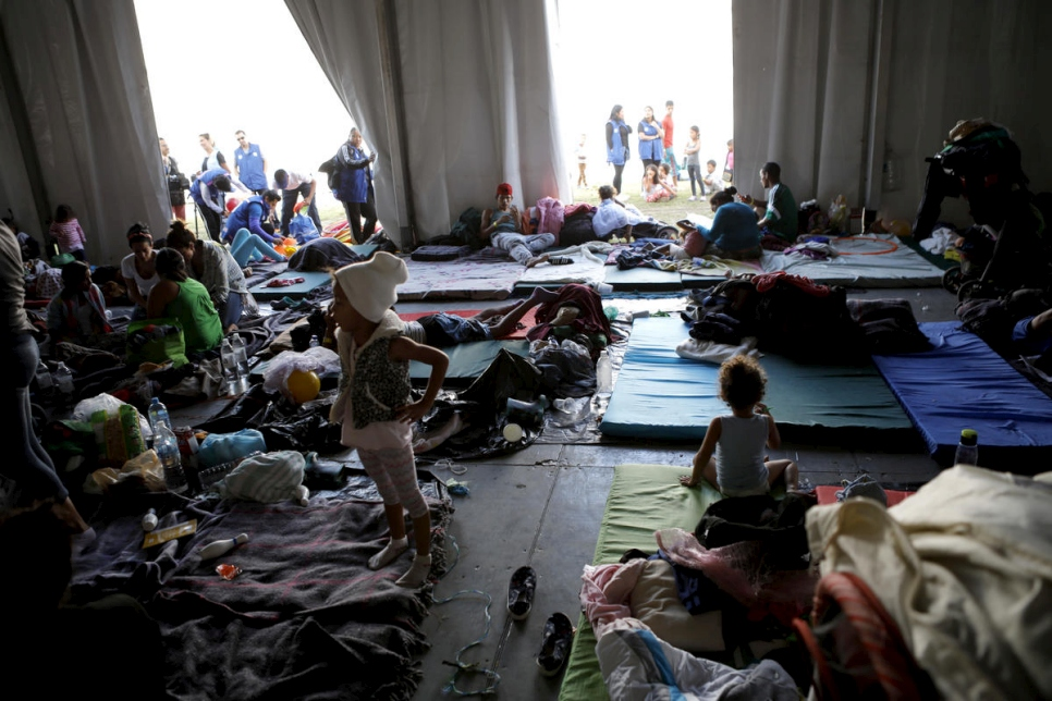 Mexico.  Asylum seekers make it to Mexico City.